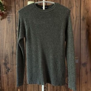 John Ashford 100% Cashmere Gray Sweater sz M
